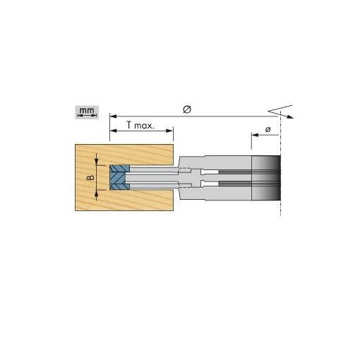HW-Verstellnutfräser, Profi-Ausführung