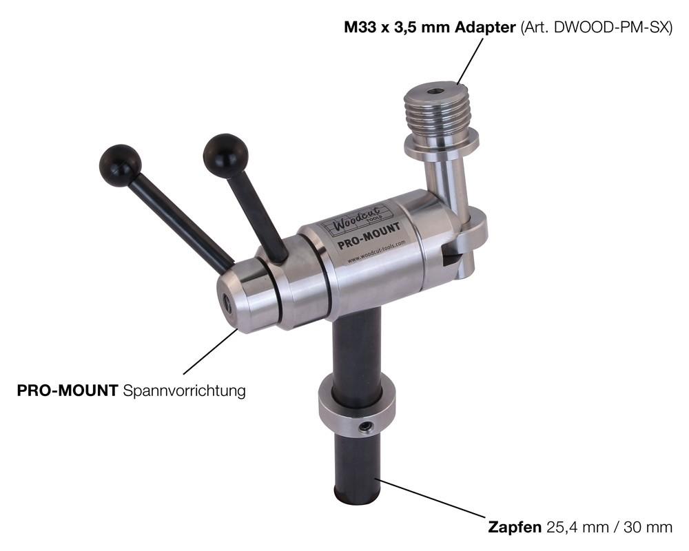 WOODCUT PRO-MOUNT inklusive M33 x 3,5 mm Adapter