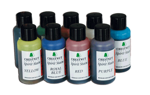CHESTNUT Spirit Stain Sample MINI-SET