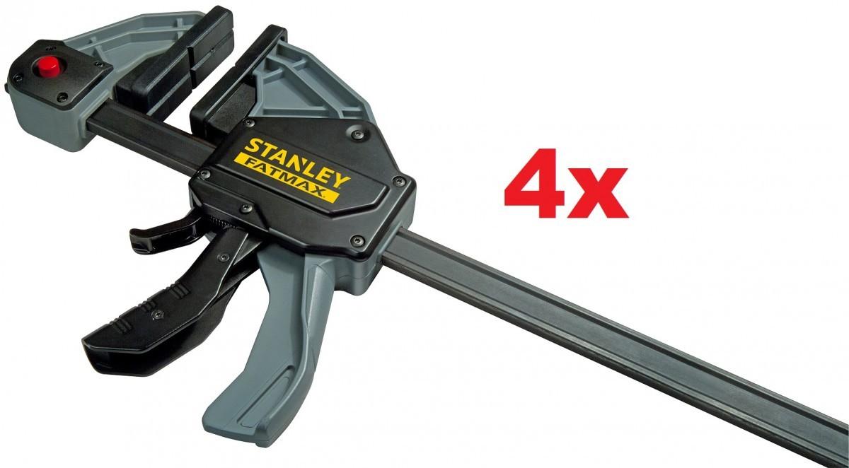 4 Stk. STANLEY FatMax Einhandzwingen 90 x 150 mm