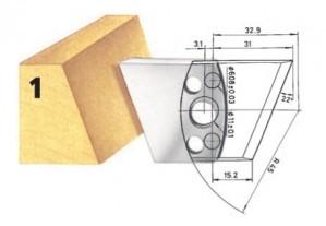 Profilmesser bzw. Abweiser Nr. 1 BG-konform