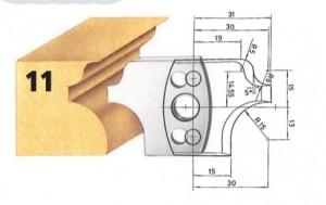 Profilmesser bzw. Abweiser Nr. 11 BG-konform