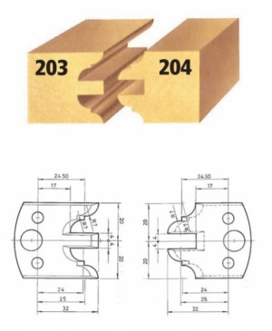Profilmesser bzw. Abweiser Nr. 203 BG-konform
