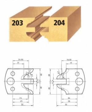 Profilmesser bzw. Abweiser Nr. 204 BG-konform