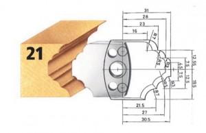 Profilmesser bzw. Abweiser Nr. 21 BG-konform