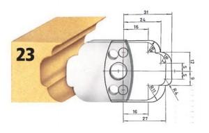 Profilmesser bzw. Abweiser Nr. 23 BG-konform