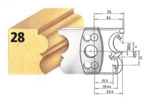 Profilmesser bzw. Abweiser Nr. 28 BG-konform