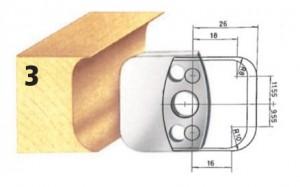 Profilmesser bzw. Abweiser Nr. 3 BG-konform