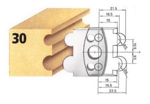 Profilmesser bzw. Abweiser Nr. 30 BG-konform