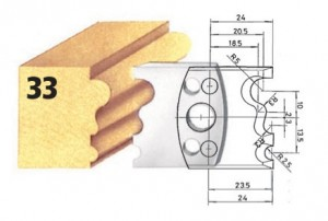 Profilmesser bzw. Abweiser Nr. 33 BG-konform