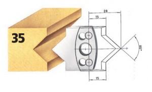 Profilmesser bzw. Abweiser Nr. 35 BG-konform