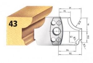 Profilmesser bzw. Abweiser Nr. 43 BG-konform