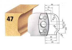 Profilmesser bzw. Abweiser Nr. 47 BG-konform