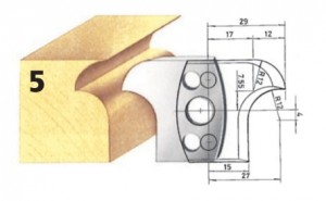 Profilmesser bzw. Abweiser Nr. 5 BG-konform