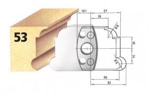 Profilmesser bzw. Abweiser Nr. 53 BG-konform