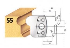 Profilmesser bzw. Abweiser Nr. 55 BG-konform
