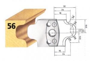 Profilmesser bzw. Abweiser Nr. 56 BG-konform