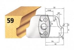 Profilmesser bzw. Abweiser Nr. 59 BG-konform