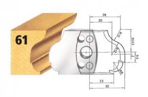 Profilmesser bzw. Abweiser Nr. 61 BG-konform