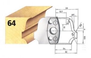 Profilmesser bzw. Abweiser Nr. 64 BG-konform