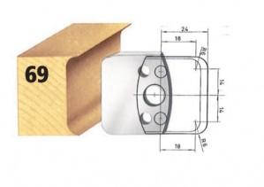Profilmesser bzw. Abweiser Nr. 69 BG-konform