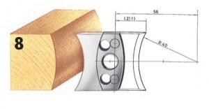 Profilmesser bzw. Abweiser Nr. 8 BG-konform