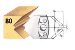 Profilmesser bzw. Abweiser Nr. 80 BG-konform