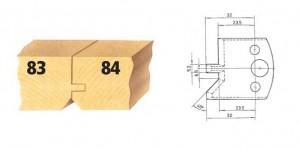 Profilmesser bzw. Abweiser Nr. 84 BG-konform