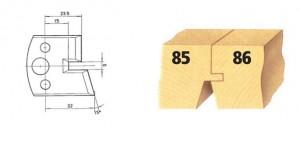 Profilmesser bzw. Abweiser Nr. 85 BG-konform