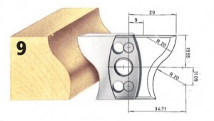 Profilmesser bzw. Abweiser Nr. 9 BG-konform