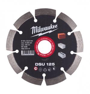 MILWAUKEE Diamanttrennscheibe DSU optimiert für Mauernutfräsen