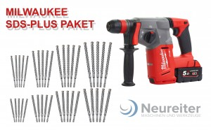 MILWAUKEE M18CHX-502 FUEL Bohrhammer + 40SDS Pl