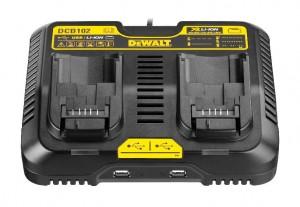 DEWALT System-Schnellladegerät für Akku / USB DCB 102