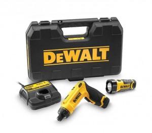 DEWALT 7,2V/1,0Ah Knickschrauber-Lampen-Set DCF 680 G2F