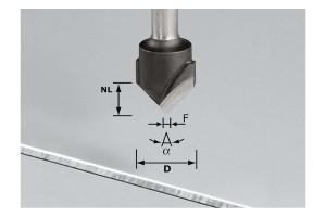 FESTOOL V-Nutfräser HW S8 D18-90°/Alu