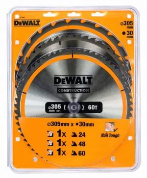 DEWALT Kreissägeblätter 3er Pack 305 mm