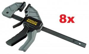 8 Stk. STANLEY FatMax Einhandzwingen 62 mm x 150 mm