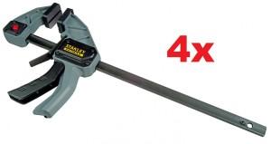 4 Stk. STANLEY FatMax Einhandzwingen 82 x 300 mm