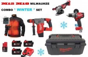M12 M18 Milwaukee COMBO WINTER SET