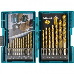 MAKITA Metallbohrer-Set HSS-TIN 19tlg.