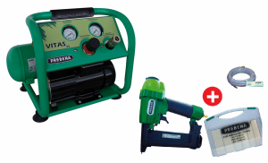 VITAS 45 Montage-KompressorSET inkl. Nagelgerät + Nägel + Schlauch