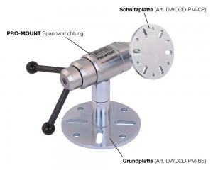 WOODCUT PRO-MOUNT inklusive Schnitzplatte und Grundplatte