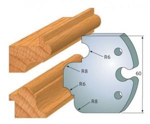 Profilmesser bzw. Abweiser 60 mm Nr. 6006