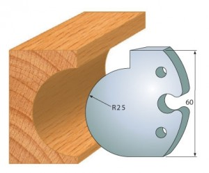 Profilmesser bzw. Abweiser 60 mm Nr. 6009