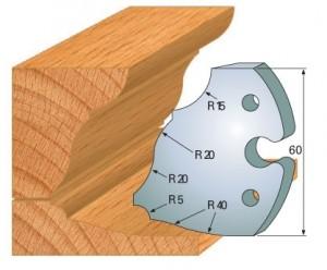 Profilmesser bzw. Abweiser 60 mm Nr. 6020