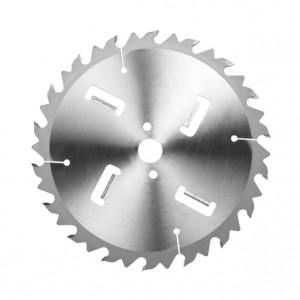 Spezial-Sägeblatt mit Räumschneiden HW, Industrie-Ausführung