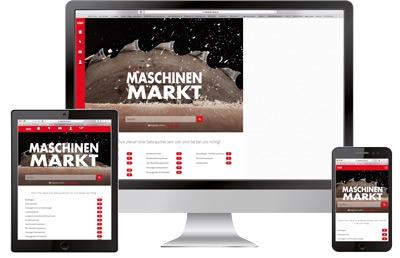 Gebrauchtmaschinenmarkt Online Symbolbild